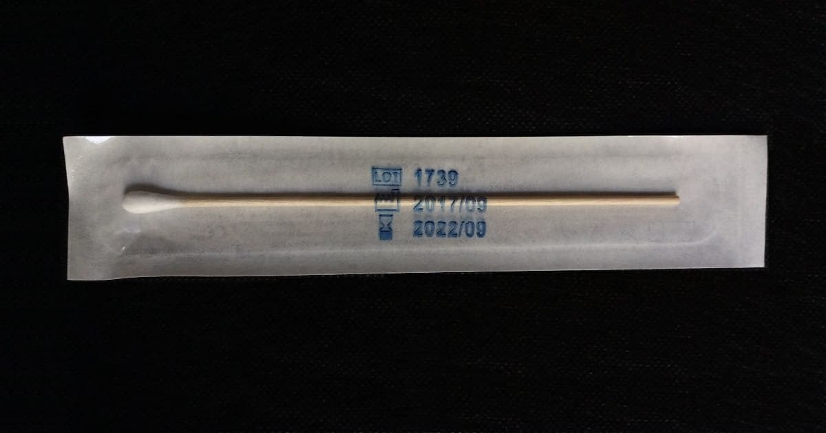 5100/SG/CS - Стерилен микробиологичен тампон от памук, дървена дръжка, 150 мм