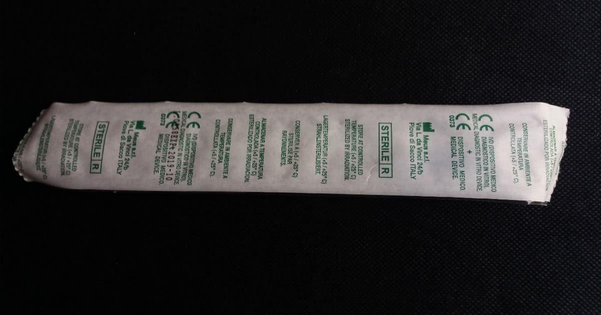 230117 - Опаковка на микробиологичен тампон от вискоза на пластмасова дръжка и среда Stuart